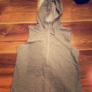 Gray Nike sleeveless pullover